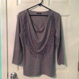 NWOT gray blouse